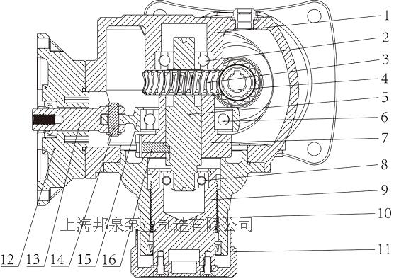 机械隔膜计量泵驱动端示
