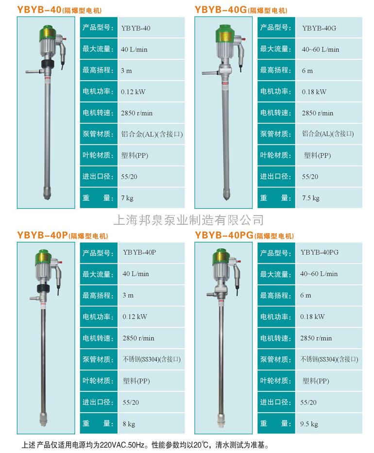 220V手提式便携式隔爆型铝合金不锈钢油桶泵/插桶泵/电动插桶泵